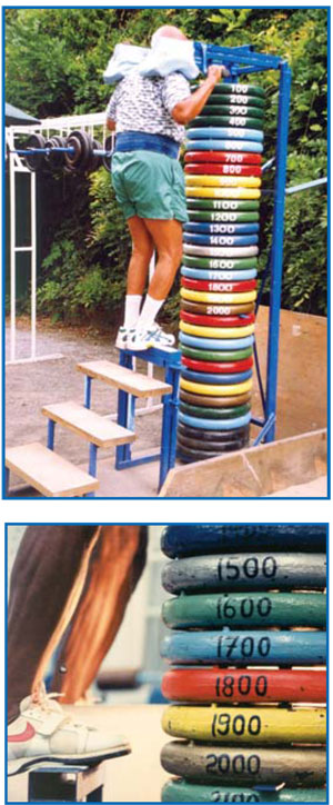 Sri Chinmoy lifts 2000lb in a standing calf raise